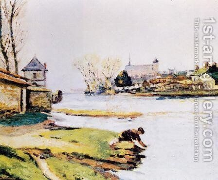 The Resevoir At Poitiers by Armand Guillaumin - Reproduction Oil Painting