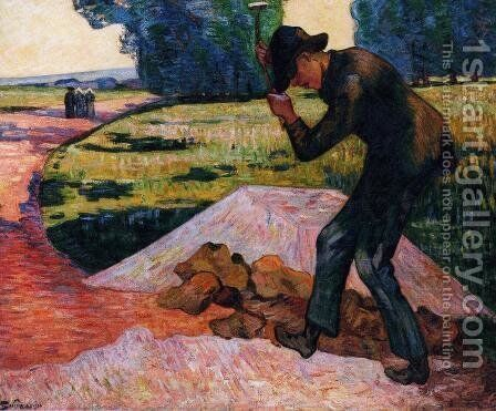 The Rock Breaker by Armand Guillaumin - Reproduction Oil Painting