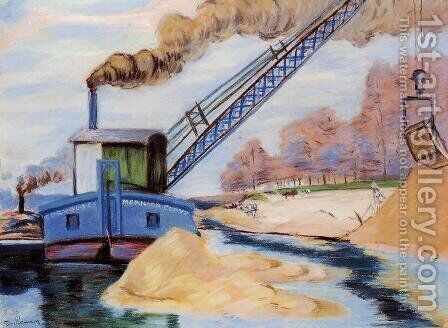 The Sand Quarry by Armand Guillaumin - Reproduction Oil Painting