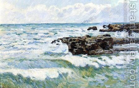The Sea At Saint Palais by Armand Guillaumin - Reproduction Oil Painting