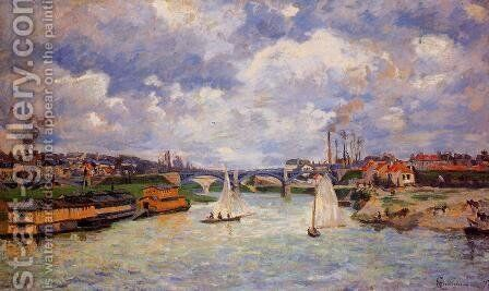 The Seine At Charenton by Armand Guillaumin - Reproduction Oil Painting