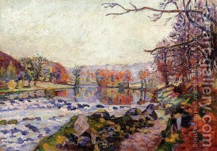The Valley Of The Creuse by Armand Guillaumin - Reproduction Oil Painting