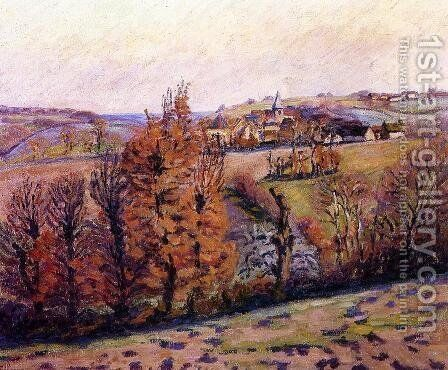 The Village Of Crozant by Armand Guillaumin - Reproduction Oil Painting