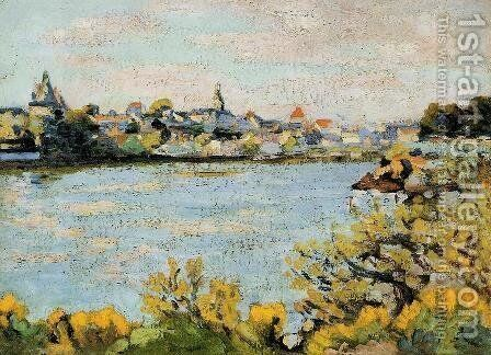 The Village Of Pornic by Armand Guillaumin - Reproduction Oil Painting