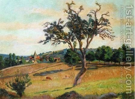 View Of Crozant by Armand Guillaumin - Reproduction Oil Painting