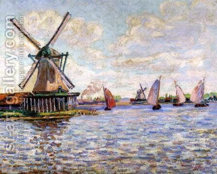 Windmills In Holland by Armand Guillaumin - Reproduction Oil Painting