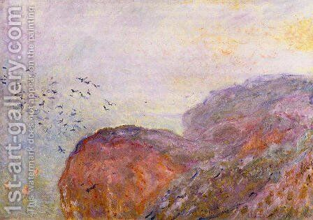 A Cliff Near Dieppe by Claude Oscar Monet - Reproduction Oil Painting