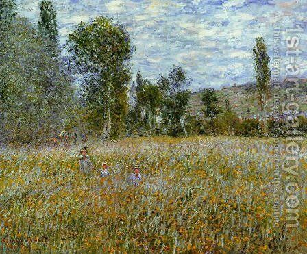 A Meadow by Claude Oscar Monet - Reproduction Oil Painting