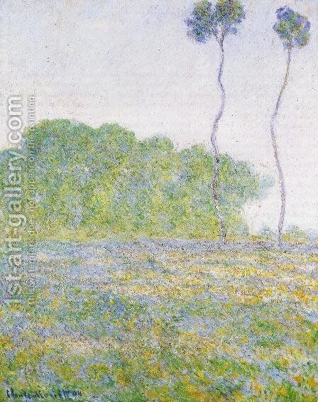 A Meadow At Giverny by Claude Oscar Monet - Reproduction Oil Painting