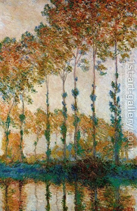 A Row Of Poplars by Claude Oscar Monet - Reproduction Oil Painting