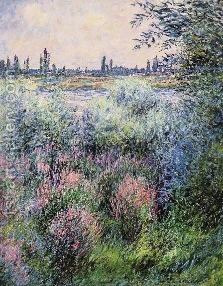 A Spot On The Banks Of The Seine by Claude Oscar Monet - Reproduction Oil Painting