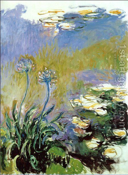 Agapanthus2 by Claude Oscar Monet - Reproduction Oil Painting