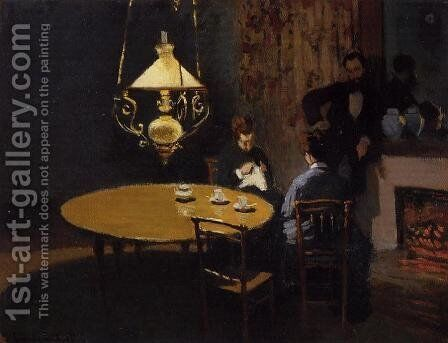 An Interior After Dinner by Claude Oscar Monet - Reproduction Oil Painting