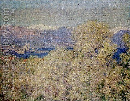 Antibes   View Of The Salis Gardens by Claude Oscar Monet - Reproduction Oil Painting