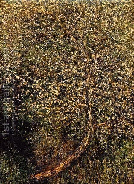 Apple Trees In Blossom By The Water by Claude Oscar Monet - Reproduction Oil Painting