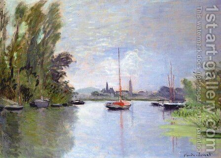 Argenteuil Seen From The Small Arm Of The Seine by Claude Oscar Monet - Reproduction Oil Painting