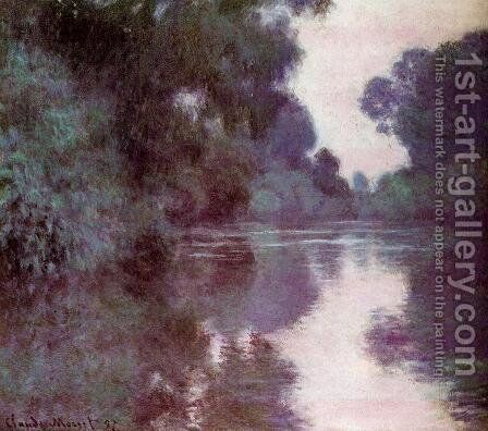 Arm Of The Seine Near Giverny by Claude Oscar Monet - Reproduction Oil Painting