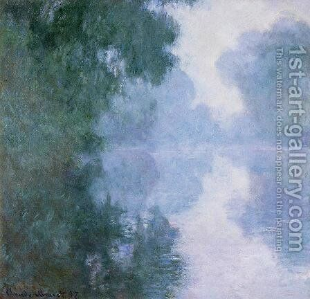 Arm Of The Seine Near Giverny In The Fog2 by Claude Oscar Monet - Reproduction Oil Painting