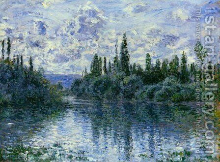 Arm Of The Seine Near Vetheuil by Claude Oscar Monet - Reproduction Oil Painting