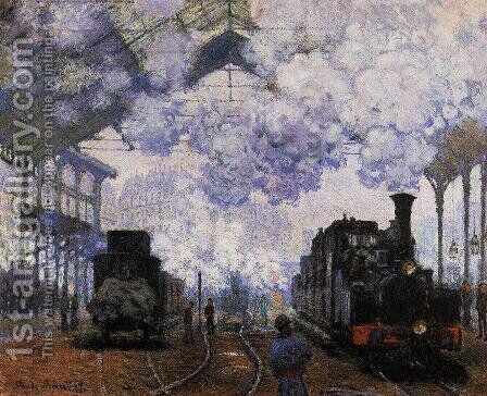 Arrival At Saint Lazare Station by Claude Oscar Monet - Reproduction Oil Painting