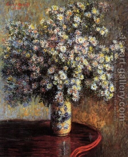 Asters by Claude Oscar Monet - Reproduction Oil Painting