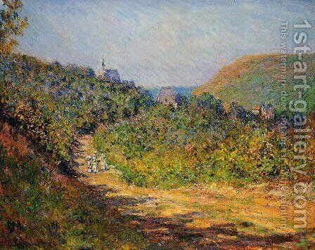 At Les Petit Dalles by Claude Oscar Monet - Reproduction Oil Painting