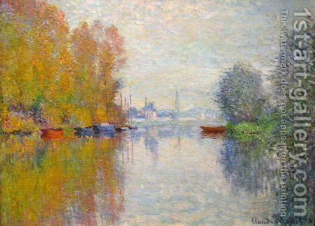 Autumn On The Seine At Argenteuil by Claude Oscar Monet - Reproduction Oil Painting