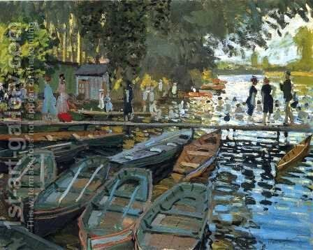 Bathers At La Grenouillere by Claude Oscar Monet - Reproduction Oil Painting