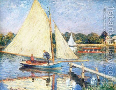 Boaters At Argenteuil by Claude Oscar Monet - Reproduction Oil Painting