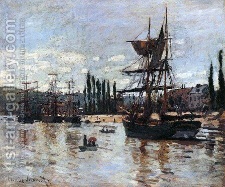 Boats At Rouen by Claude Oscar Monet - Reproduction Oil Painting