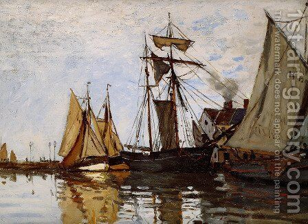 Boats In The Port Of Honfleur by Claude Oscar Monet - Reproduction Oil Painting