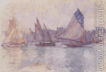 Boats In The Port Of Le Havre by Claude Oscar Monet - Reproduction Oil Painting
