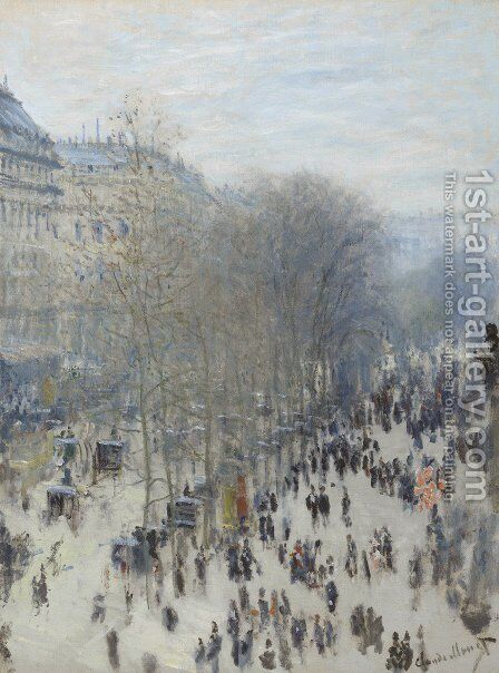 Boulevard Des Capucines by Claude Oscar Monet - Reproduction Oil Painting