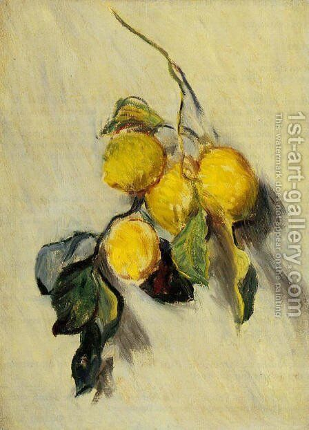 Branch Of Lemons by Claude Oscar Monet - Reproduction Oil Painting
