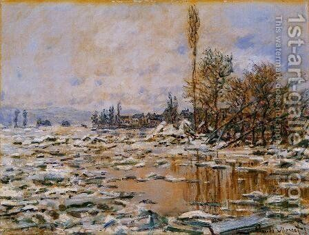Breakup Of The Ice  Lavacourt by Claude Oscar Monet - Reproduction Oil Painting