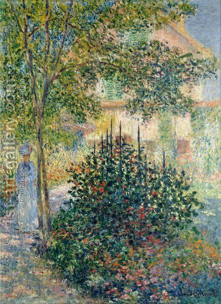 Camille Monet In The Garden At The House In Argenteuil by Claude Oscar Monet - Reproduction Oil Painting