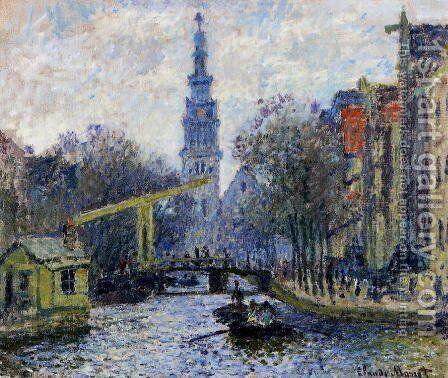 Canal In Amsterdam by Claude Oscar Monet - Reproduction Oil Painting