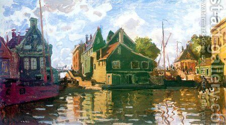 Canal In Zaandam by Claude Oscar Monet - Reproduction Oil Painting