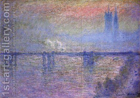 Charing Cross Bridge by Claude Oscar Monet - Reproduction Oil Painting
