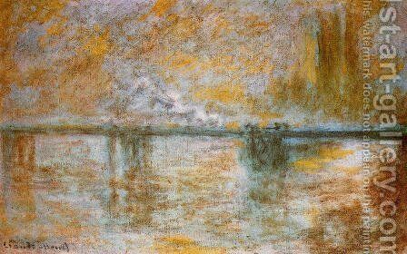 Charing Cross Bridge2 by Claude Oscar Monet - Reproduction Oil Painting