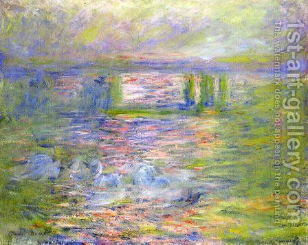 Charing Cross Bridge5 by Claude Oscar Monet - Reproduction Oil Painting