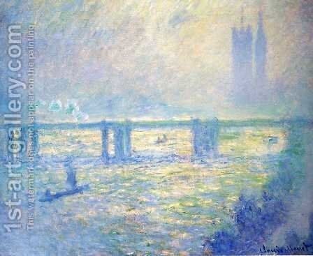 Charing Cross Bridge6 by Claude Oscar Monet - Reproduction Oil Painting