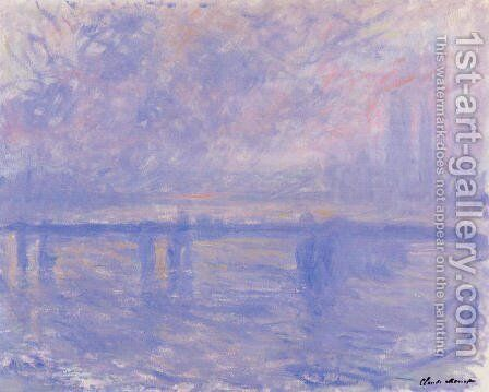 Charing Cross Bridge7 by Claude Oscar Monet - Reproduction Oil Painting