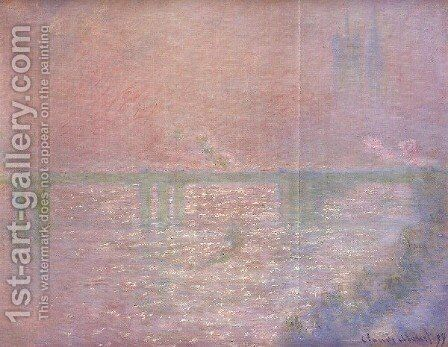 Charing Cross Bridge9 by Claude Oscar Monet - Reproduction Oil Painting