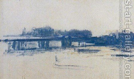 Charing Cross Bridge10 by Claude Oscar Monet - Reproduction Oil Painting