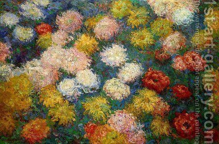 Chrysanthemums by Claude Oscar Monet - Reproduction Oil Painting