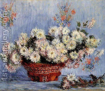 Chrysanthemums2 by Claude Oscar Monet - Reproduction Oil Painting