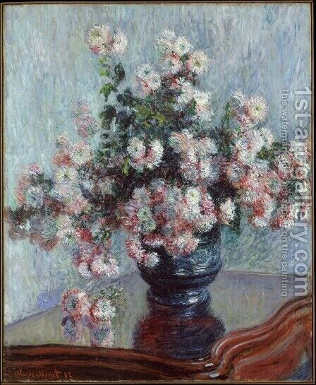 Chrysanthemums4 by Claude Oscar Monet - Reproduction Oil Painting