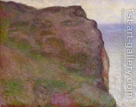 Cliff At Petit Ailly  At Varengeville by Claude Oscar Monet - Reproduction Oil Painting