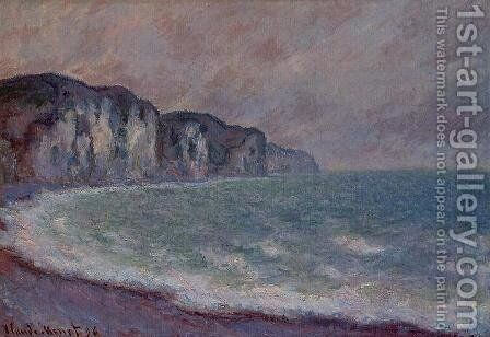 Cliff At Pourville2 by Claude Oscar Monet - Reproduction Oil Painting